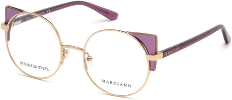 Marciano - GM0332 Shiny Rose Gold Eyeglasses / Demo Lenses