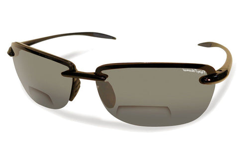 Flying Fisherman - Cali Bifocal Reader 7305BIF Matte Black Sunglasses, Smoke Lenses