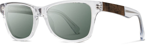 Shwood - Canby Acetate Crystal / G15 Polarized Sunglasses