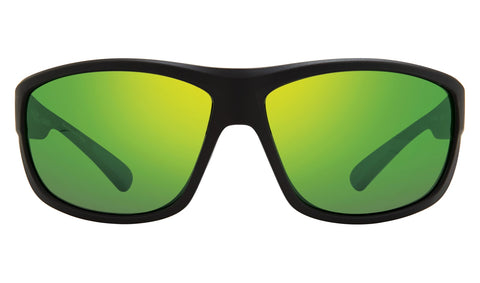 Revo - Caper Bear Grylls 66mm Matte Black Sunglasses / Green Water Polarized Lenses