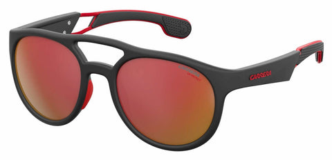 Carrera - 4011 S Black Ruthenium Crystal Red Sunglasses / Red Mirror Lenses