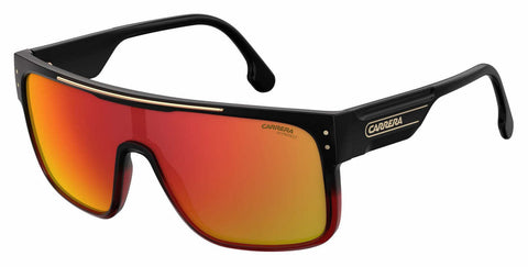 Carrera - Ca Flagtop Ii Black Shade Red Sunglasses / Red Mirror Lenses