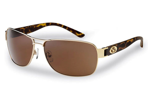 Flying Fisherman - Carysfort 7312 Gold Tortoise Sunglasses, Amber Lenses