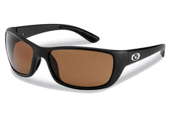 Flying Fisherman - Cay Sal 7372 Matte Black Sunglasses, Amber Lenses