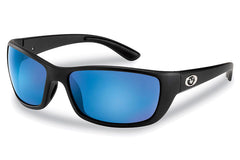 Flying Fisherman - Cay Sal 7372 Matte Black Sunglasses, Smoke-Blue Mirror Lenses