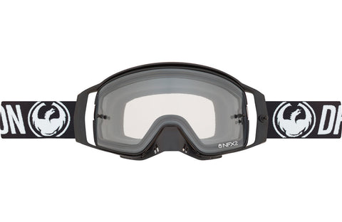 Dragon - NFX2 Coal MX Goggles / Injected Clear + 10 pack Tear Offs + Lens Shield Lenses