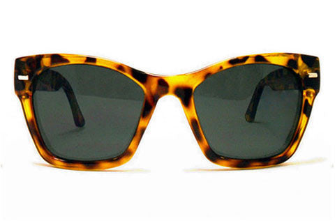 Spitfire - Coco Tortoise Shell Sunglasses, Black Lenses