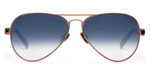 Westward Leaning - Concorde 29 Polished Rose Gold Metal Sunglasses / Matte Black Acetate Lenses