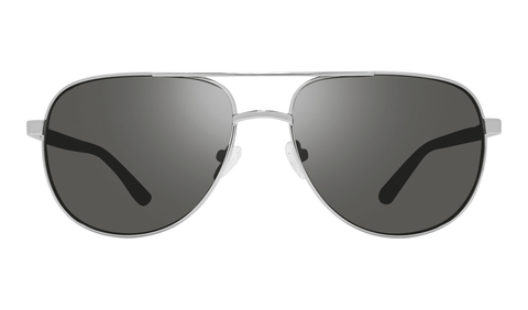 Revo - Conrad 59mm Chrome Sunglasses / Graphite Polarized Lenses