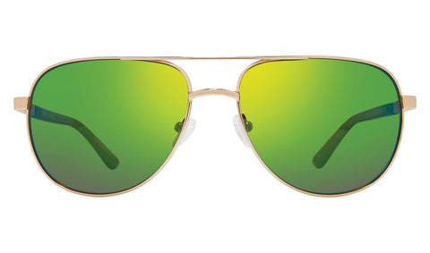 Revo - Conrad 59mm Gold Sunglasses / Green Water Polarized Lenses