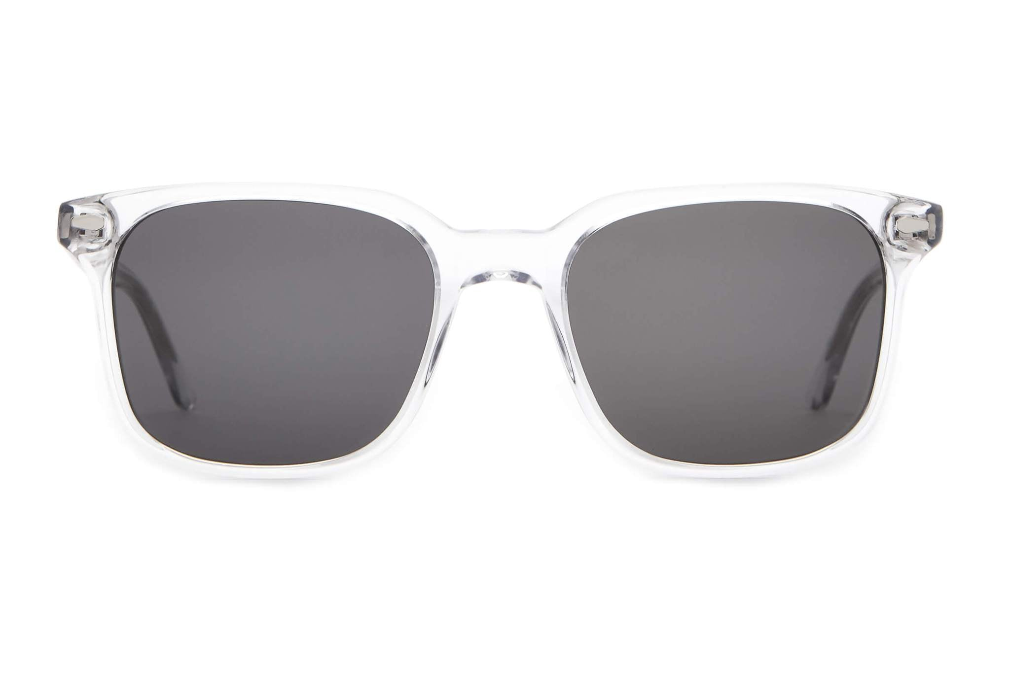 Crap Eyewear - The Conga Jet 50mm Crystal Clear Sunglasses / Grey Lenses