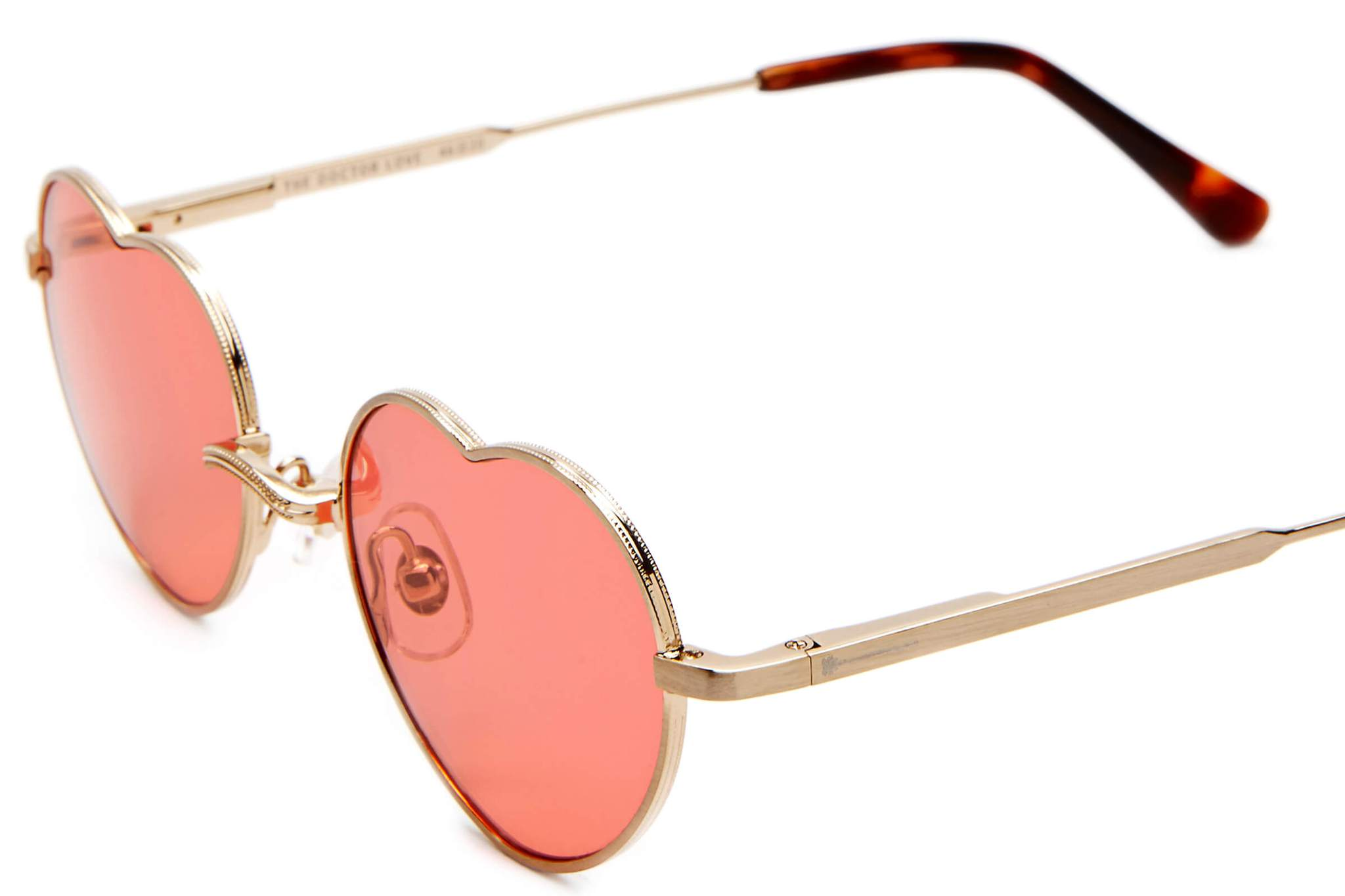 032d5dfee10 ... Crap Eyewear - The Doctor Love Brushed Gold Sunglasses   Deep Rose  Lenses ...