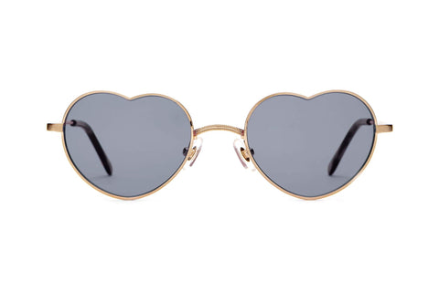 Crap Eyewear - The Doctor Love Brushed Gold Sunglasses / Grey Lenses