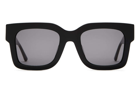 Crap Eyewear - The Downtown Purr Black Sunglasses / Grey Lenses