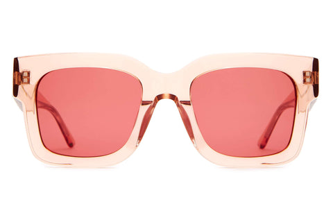 Crap Eyewear - The Downtown Purr 50mm Crystal Rose Sunglasses / Deep Rose Lenses
