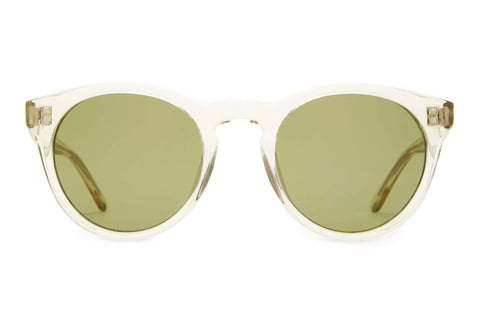 Crap Eyewear - The Shake Appeal 49mm Crystal Champagne Sunglasses / Olive Lenses