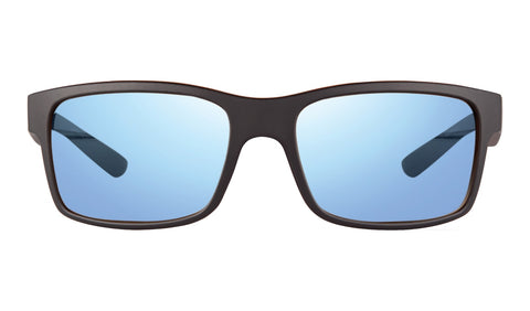 Revo - Crawler 59mm Matte Black Tortoise Sunglasses / Blue Water Lenses