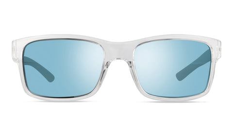 Revo - Crawler 59mm Clear Crystal Sunglasses / Blue Water Lenses