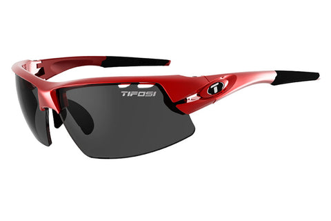 Tifosi - Crit Metallic Red Sunglasses, Interchangeable AC Red / Clear / Smoke Lenses