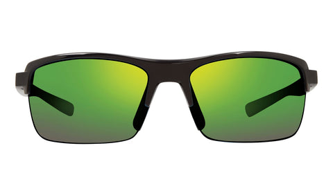 Revo - Crux N 63mm Black Sunglasses / Green Water Lenses