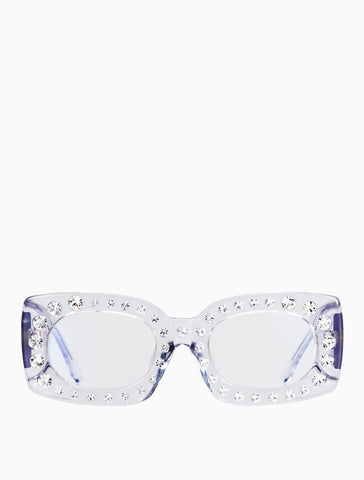Poppy Lissiman - Crystal Beth Clear Sunglasses / Clear Lenses