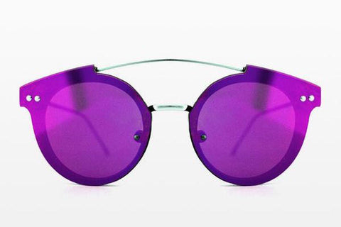 Spitfire - Trip Hop 2 Silver Sunglasses / Purple Mirror Lenses