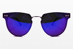 Spitfire - Cyber Silver Sunglasses, Blue Mirror Lenses