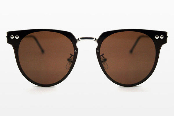 Spitfire Cyber Silver Sunglasses, Brown Lenses