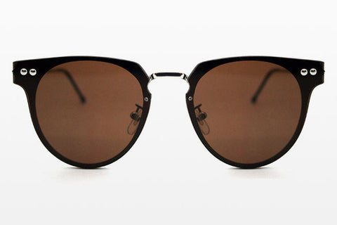 Spitfire - Cyber Silver Sunglasses, Brown Lenses