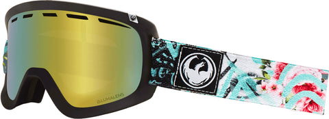 Dragon - D1 OTG Flaunt Snow Goggles / Gold Ion + Dark Smoke Lenses