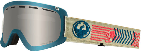 Dragon - D1 OTG Terra Snow Goggles / Silver Ion + Dark Smoke Lenses