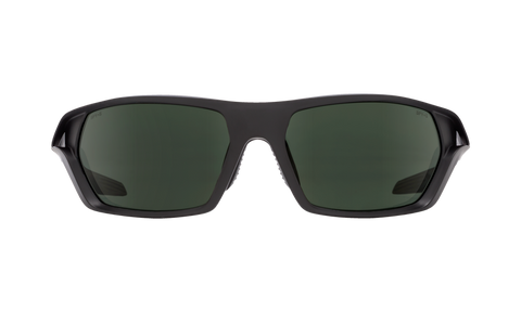 Spy - Quanta 2 Matte Black ANSI RX Sunglasses / Happy Gray Green Polarized Lenses