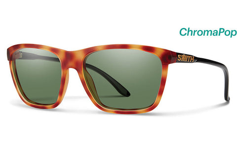 Smith - Delano Matte Honey Tortoise / Black Sunglasses, ChromaPop Polarized Gray Green Lenses