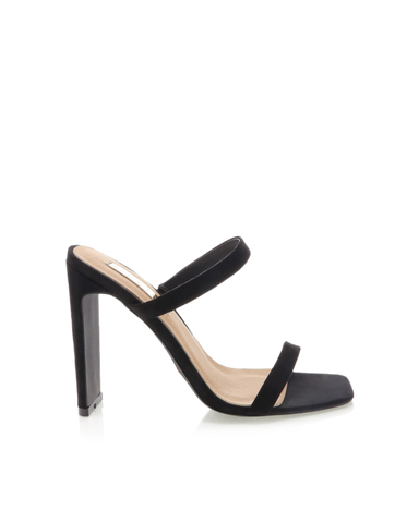 BiLLiNi - Women's Dana Black Suede Block Heels