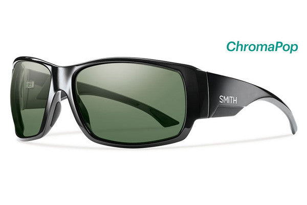 Smith - Dockside Black Sunglasses, ChromaPop Polarized Gray Green Lenses