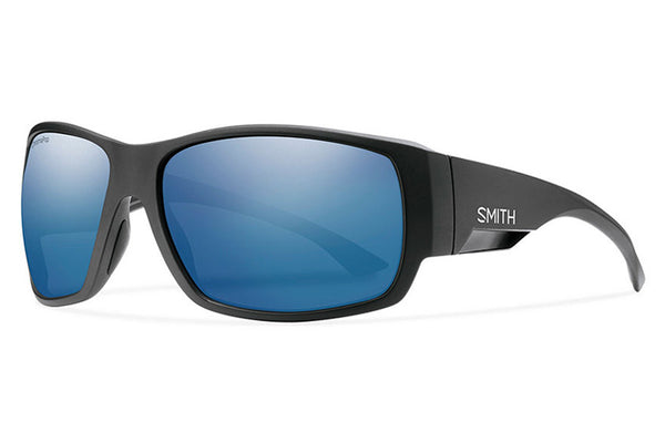 Smith - Dockside Matte Black Sunglasses, ChromaPop Polarized Blue Mirror Lenses