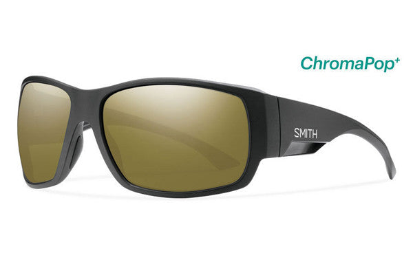 Smith Dockside Matte Black Sunglasses, ChromaPop Polarized Bronze Mirror Lenses