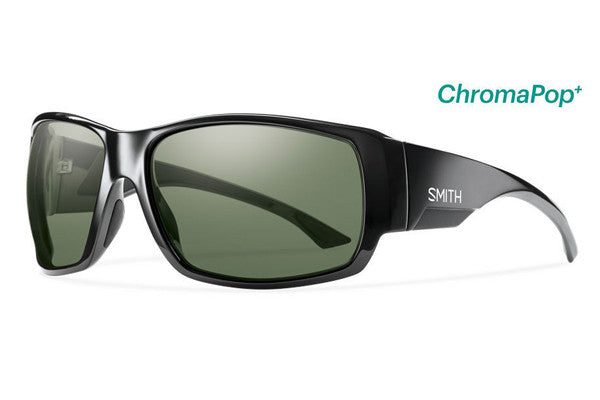 Smith - Dockside Black Sunglasses, ChromaPop+ Polarized Gray Green Lenses