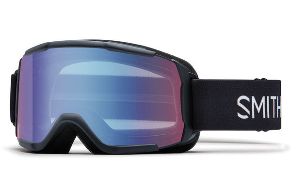 Smith Daredevil Black Goggles, Blue Sensor Mirror Lenses