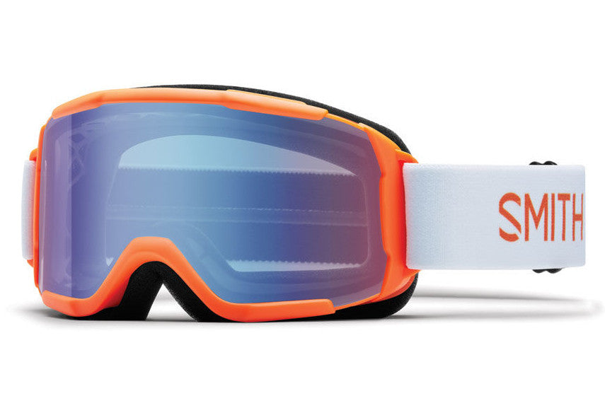 Smith - Daredevil Neon Orange Burgers Goggles, Blue Sensor Mirror Lenses