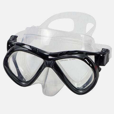 Leader - Belize Sr. Adult Advanced Series Black Silver Green Snorkel Mask