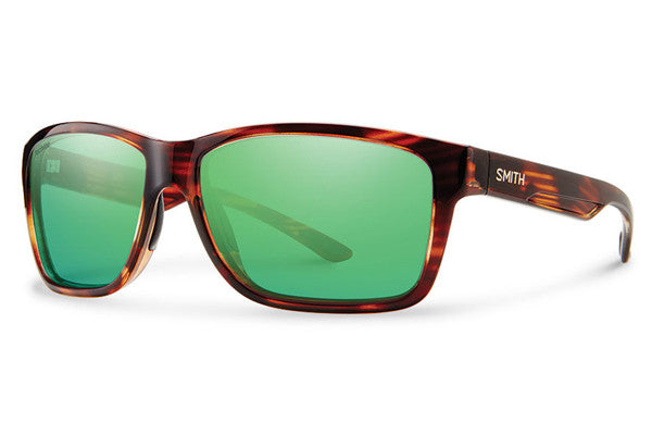 Smith - Drake Tortoise Sunglasses, Techlite Polarized Green Mirror Lenses
