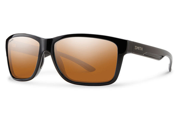 Smith - Drake Black Sunglasses, Techlite Polarchromic Copper Mirror Lenses