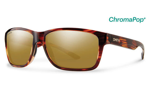 Smith Drake Tortoise Sunglasses, ChromaPop+ Polarized Bronze Mirror Lenses