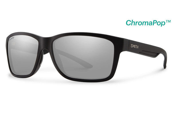 Smith - Drake Matte Black Sunglasses, ChromaPop+ Polarized Platinum Lenses