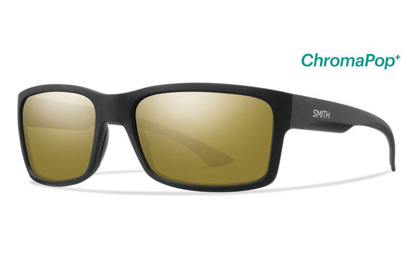Smith - Dolen Matte Black Sunglasses, ChromaPop Polarized Bronze Mirror Lenses