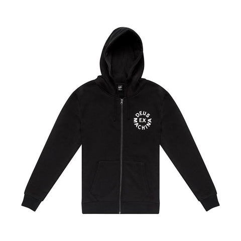 Deus Ex Machina - Circle Logo Black Hoodie
