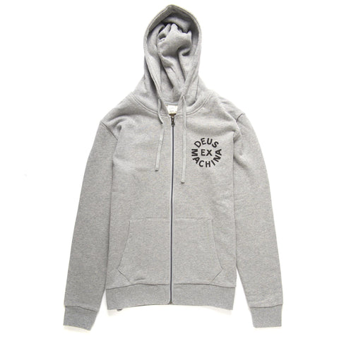 Deus Ex Machina - Circle Logo Grey Marie Hoodie