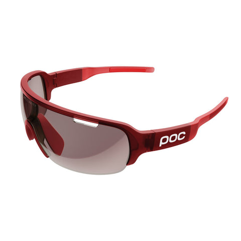 POC - DO Half Blade Prismane Red Translucent Sunglasses / Violet Light Silver Lenses