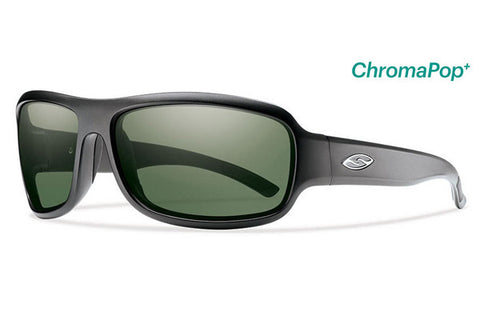 Smith - Drop Elite Matte Black Tactical Sunglasses, Chromapop Polar Gray Green Lenses
